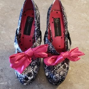 Iron Fist Skull and Roses Heels